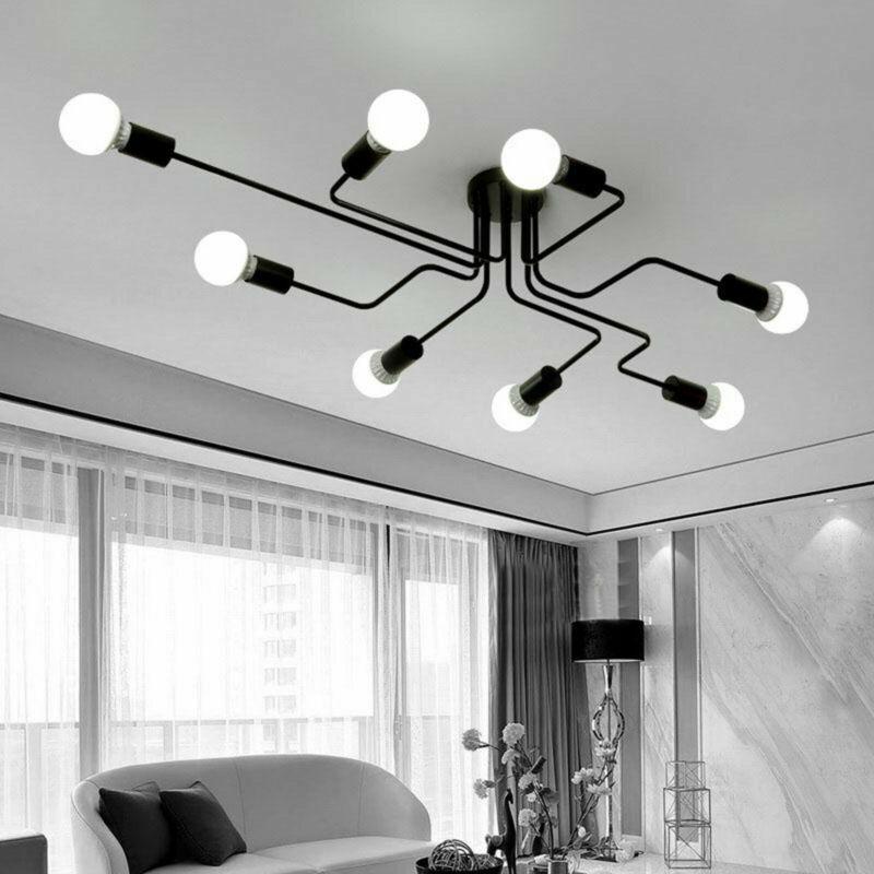 4 6 8way Industrial Style Ceiling Light Modern Bathroom Retro Metal Pendant Lamp Ebay