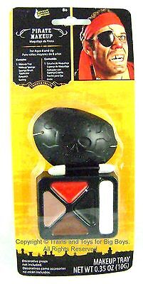 PIRATE MAKEUP KIT Halloween Costume Accessories Pirates Eyepatch Earring New r (Kids Pirate Makeup Halloween)