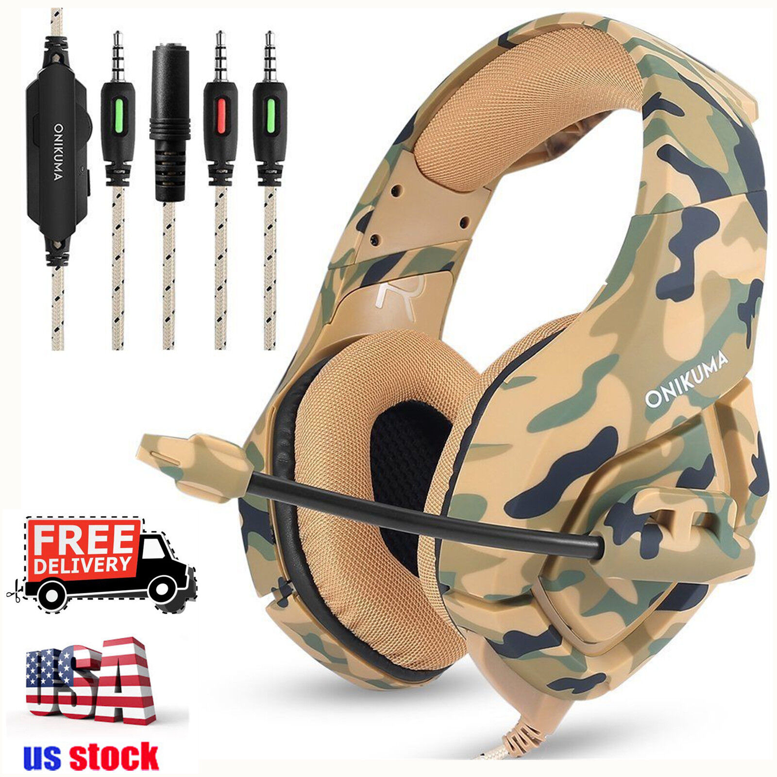 Купить ONIKUMA K1 - ONIKUMA K1 Stereo PC Gaming Headset for PS4 New Xbox One with Mic Camouflage