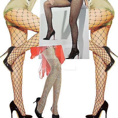 NEW WOMENS LADIES WHALE FENCE DIAMOND FISHNET TIGHTS NETTED FANCY PARTY (Diamond Womens Kostüm)