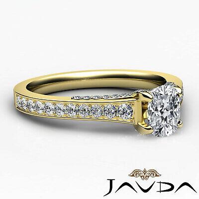 Bridge Accent Micro Pave Set Cushion Diamond Engagement Ring GIA H VS1 1.25 Ct 2