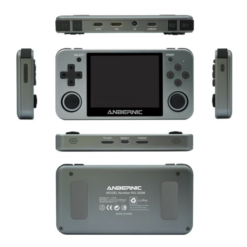 Anbernic RG350M Handheld Game Emulator - Neogeo,NES, SNES, PS1  32gb sd HDMI out