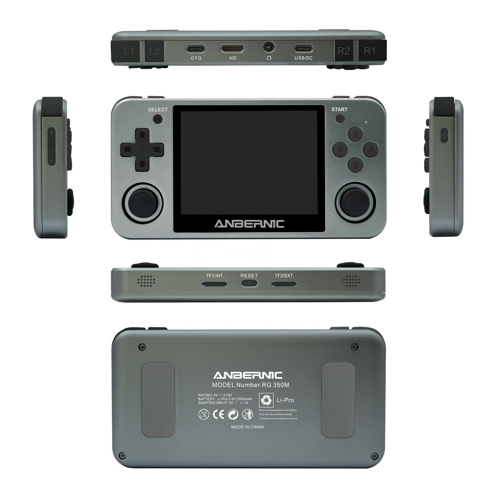 Anbernic RG350M Handheld Game Emulator - Neogeo,NES, SNES, PS1  32gb sd HDMI out
