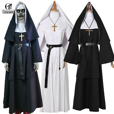 The Conjuring Halloween Costumes (The Nun Valak Costume The Conjuring 2 Halloween Cosplay Fancy Dress Black)