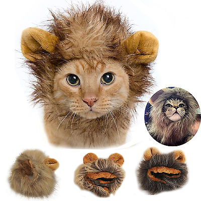Pet Wig Lion Mane Costume For Cat Small Dog Halloween Festival Clothing With - Lion Mane For Dog
