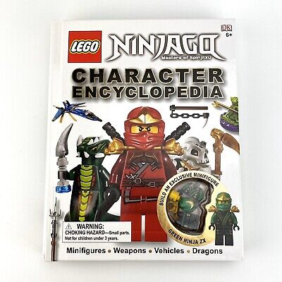 DK Lego Ninjago Character Encyclopedia w Exclusive Green Ninja ZX Mini Figure