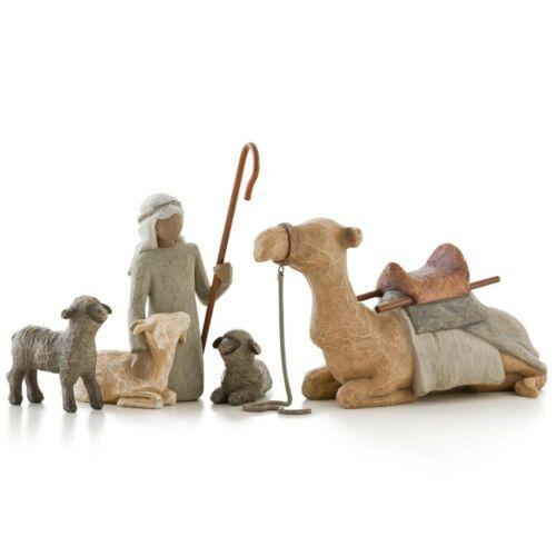 Willow Tree Nativity - Shepherd and Animals Set