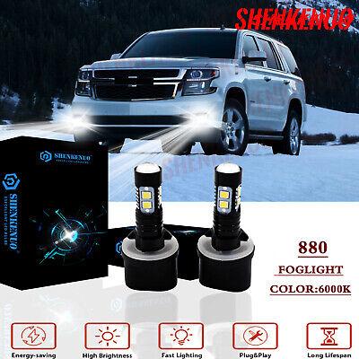 880 LED Fog Driving Light Bulb 100W 2400LM for Chevy Chevrolet Tahoe 2000-2006