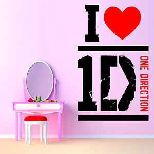 I love one direction vinyl wall art sticker room decal 1d for Music themed furniture