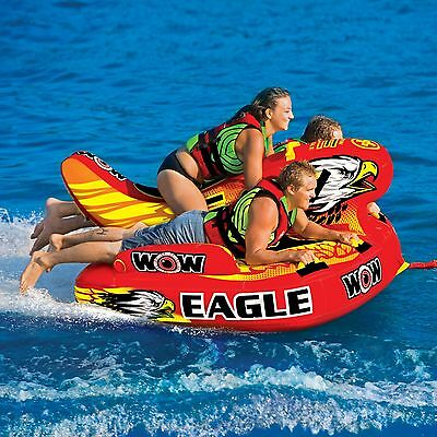 WOW Eagle 3 Persons tube inflatable towable lounge water-ski WOW 17-1040 new