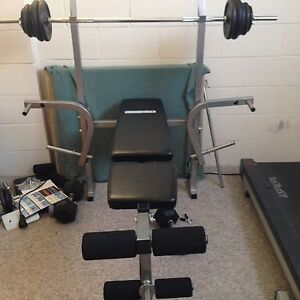 Home Gym Set - bench press, leg curl , bicep curl Shelley Canning Area Preview