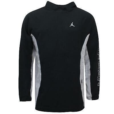 Nike Mens Jordan Hoodie Casual Branded Sweatshirt Black Grey 133688 010 M