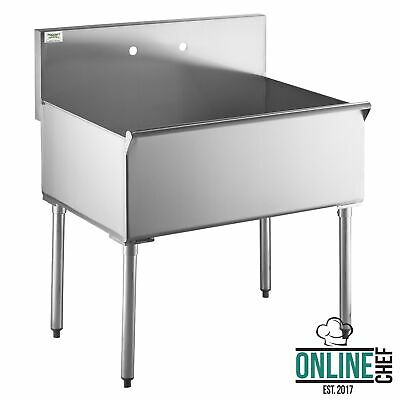 36 X 24 X 14 Stainless Steel One Compartment Commercial Utility Sink Bowl