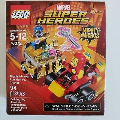 LEGO 76072 Marvel Mighty Micros: Iron Man VS. Thanos New Sealed Damaged Box