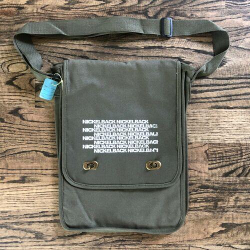 Nickleback Feed The Machine VIP Messenger Bag sling/crossbody tote green NEW!!
