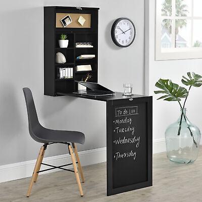 B-WARE Wandtisch Schwarz Schreibtisch Tisch Regal Wand Klapptisch aus-klappbar