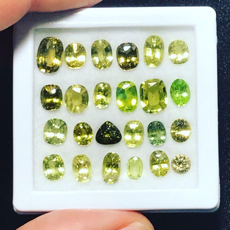 Chrysoberyl Natural Lot 24 Pcs 22.93 Carats Genuine Loose Gemstones Sri Lanka
