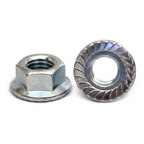M6-1.0 Zinc Hex Serrated Flange Nuts Metric Class 8, DIN 6923 RoHS CR+3