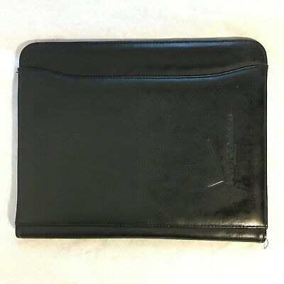 Black Leather Folder Organizer Business Portfolio Case Conference File Verizon