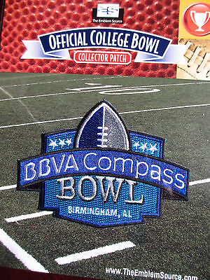 Official College Football Bowl 2011 12 Bbva Compass Bowl Patch Pittsburgh Smu
