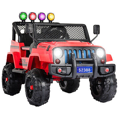 12V Kids Electric Ride on Car Toys Battery Suspension With Remote Control Red