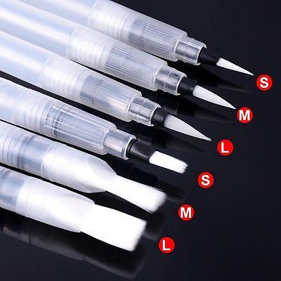 6x Wassertankpinsel Set Pinselstift Brush Pen Stift Kalligraphie Aquarell Pinsel