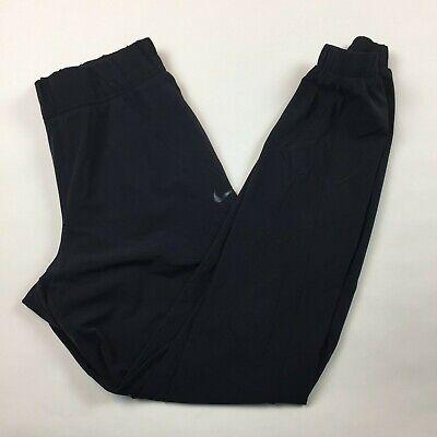 Women's Nike Bliss Woven Jogger Pants Medium Black Nylon Blend 725129 RR16