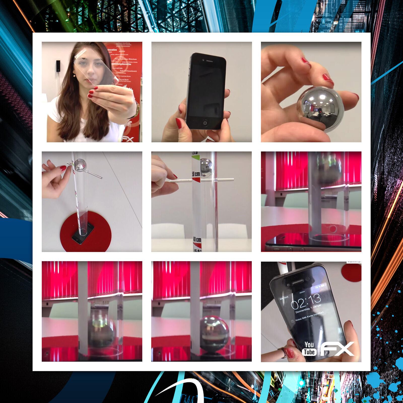 atFoliX 3x Displayschutzfolie Fitbit Versa Panzerfolie FX-Shock-Clear Folie