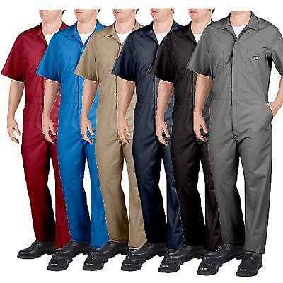 Dickies 33999 Short Sleeve Coveralls Coverall Black Red Navy Blue Khaki Grey