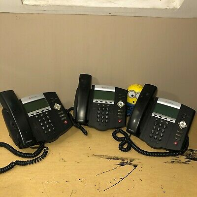 Polycom Voip Business Desktop Phone Soundpoint Ip450 Lot Of 3 Used