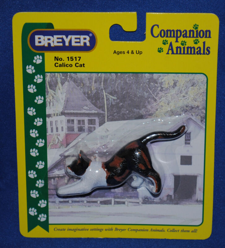 Breyer~Calico Stretching Cat~Kitty~2000-2004~Companion Animal~#1517~New