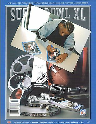 Pittsburgh Steelers IKE TAYLOR autograph signed Super Bowl XL program w/ PROOF