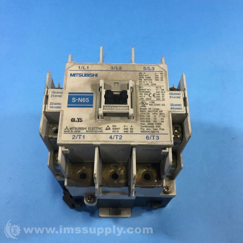 Mitsubishi Electric S-N65 Continuous Magnetic Contactor USIP