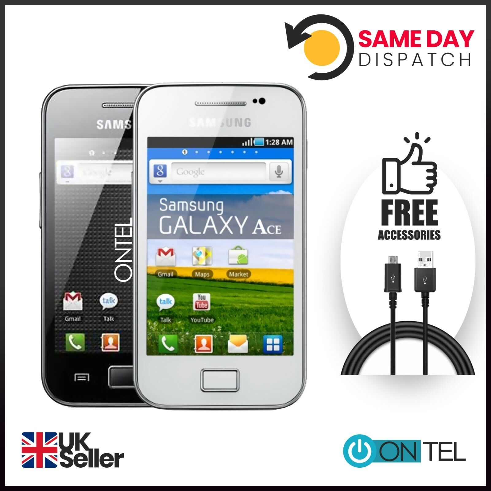 Android Phone - 🔥🔥 BRAND New Samsung Galaxy Ace GT-5830i-BLACK WHITE-3G-Unlocked Mobile Phone