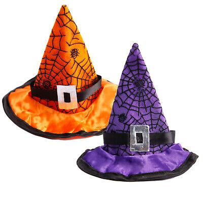 Cute Kids Adults Witch Hat Hair Clip Headband Halloween Fancy Dress - Hair Childrens Halloween Hats