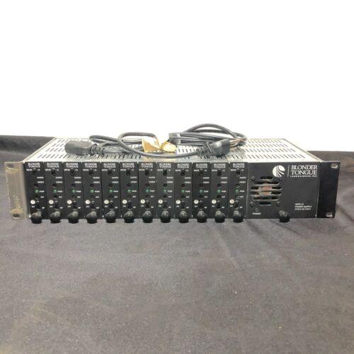 Blonder Tongue Rack MIRC-12V, Power Supply MIPS-12D and 12 Modulators MICM-45D