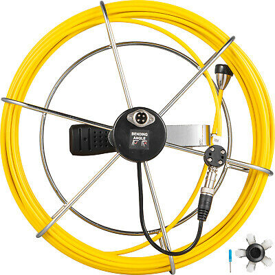 30m Pipe Sewer Inspection Camera Cable Ip68 Waterproof Drain Endoscope 4.8mm
