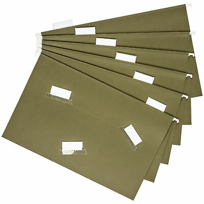 50 Legal Size Hanging File Folders 15 Cut Adjustable Tabs 5 Tab Green