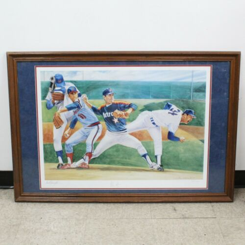 "Nolan Ryan by David Harrington 21x31"" Signed Limited Edition Lithograph w/ COA"