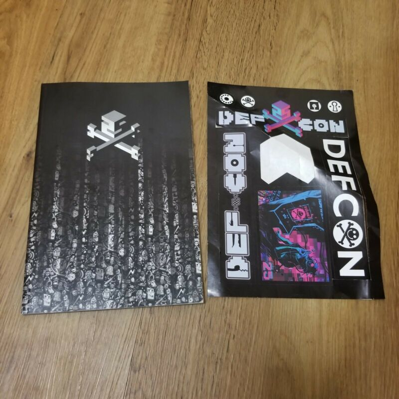 DEFCON 25 (2017) HACKER CONFERENCE Program Book Booklet & Stickers