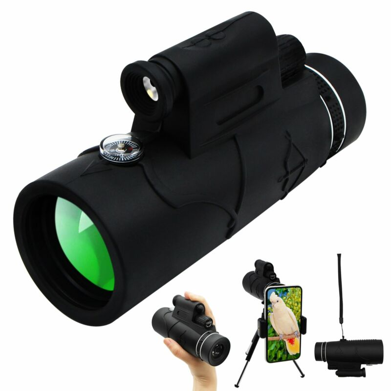 Monocular Starscope Phone Camera Zoom Lense+Tripod Bag Phone Mount Telescope USA