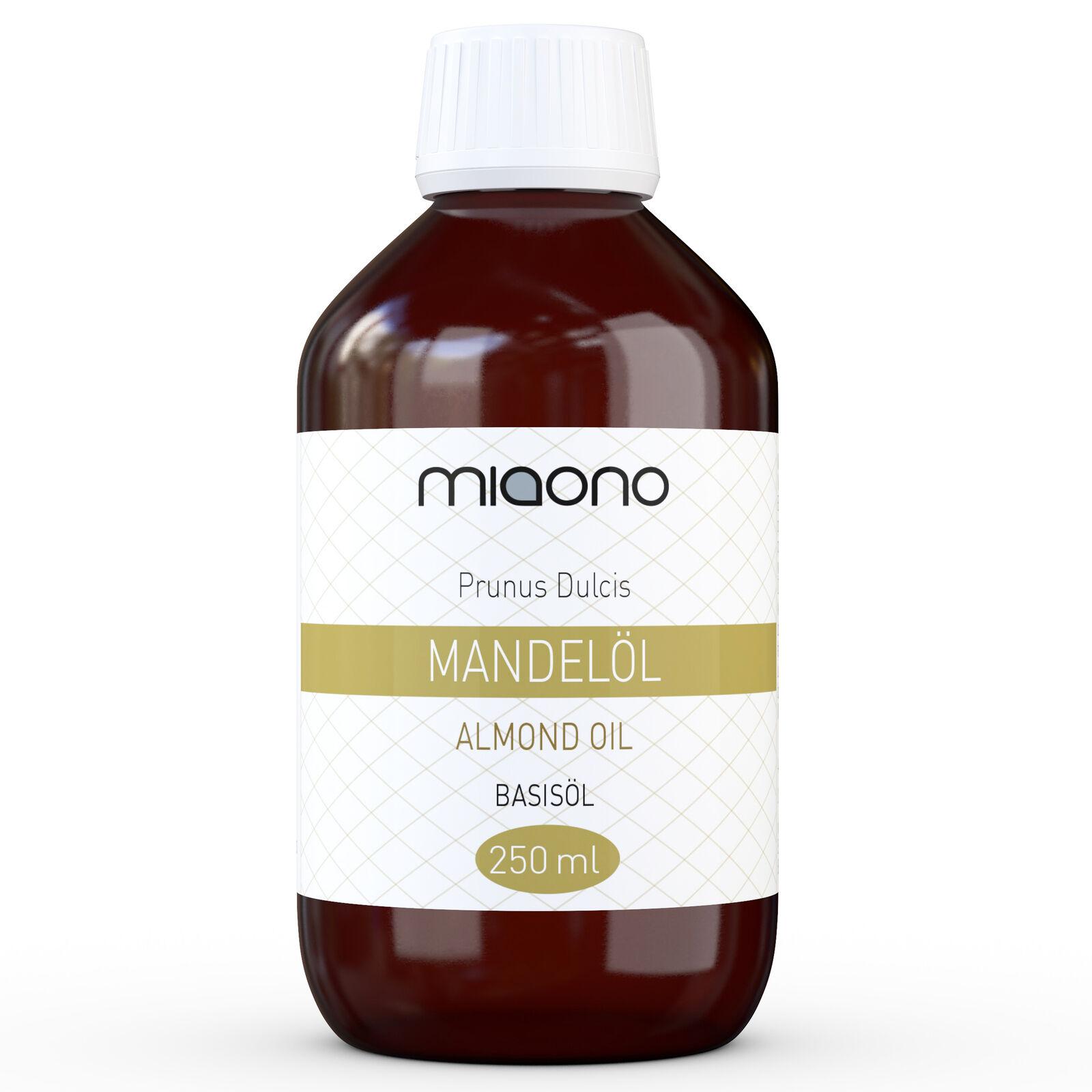 Mandelöl (250ml) - 100% reines Basisöl in einer Glasflasche von miaono