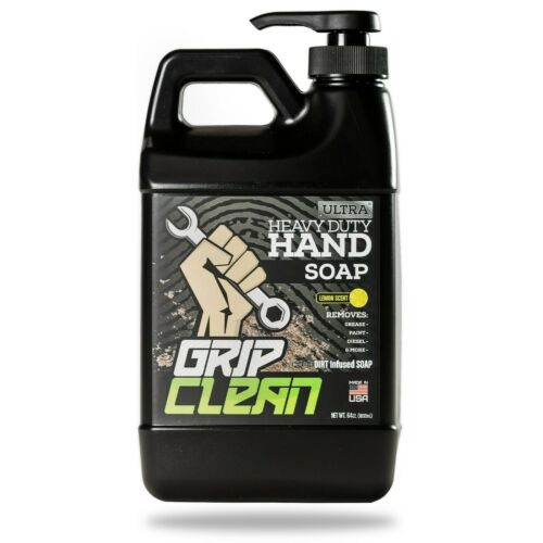 Grip Clean | Ultra Heavy Duty Waterless Hand Cleaner, Paint Remover, Lemon Scent