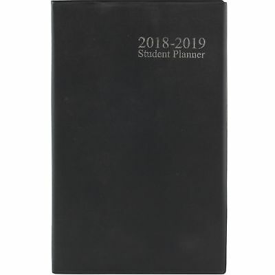 2018 2019 Student Weekly Planner Notebook Agenda School Year Vinyl Cover Black