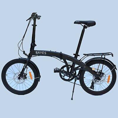 """Aluminio Bicicleta Plegable 20"""" 8 Gang Shimano Freno de Disco Negro 2020"""