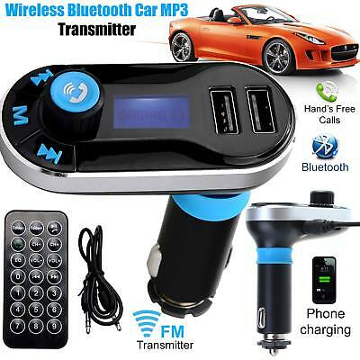 Bluetooth Car FM Transmitter USB Charger Kit Handsfree For All Smart Phones UK
