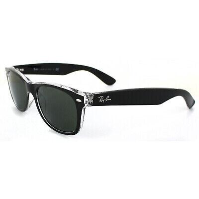 Ray-ban Sonnenbrille Neu Wayfarer 2132 6052 Top Schwarz auf Transparent Grün M