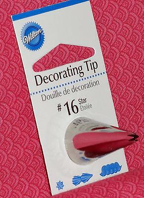 Open Star Decorating Tip,#16,Wilton,Stainless,Fits Standard Bags,Silver Color Open Star Tip