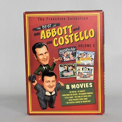 The Best of Abbott and Costello Volume 2 Full Screen DVD 8 Movies on 2 (Best Screen Movies)