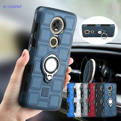Car Magnetic Ring Stand TPU Case Cover For Motorola G5/6 Plus E5 Play G7 Power